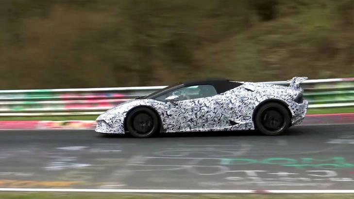 Lamborghini Huracán Performante Spyder 2018, ¡cazado!
