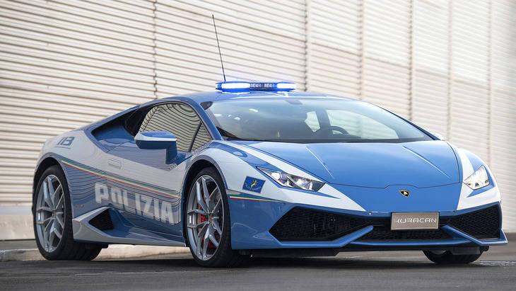 Lamborghini dona un Huracán a la policía
