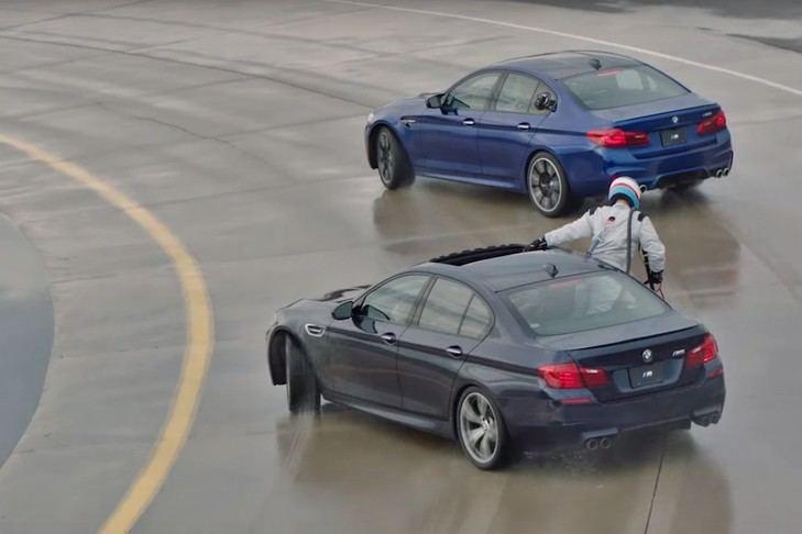 El BMW M5 logra hacer drift durante 374 repostando sobre la marcha 5 veces