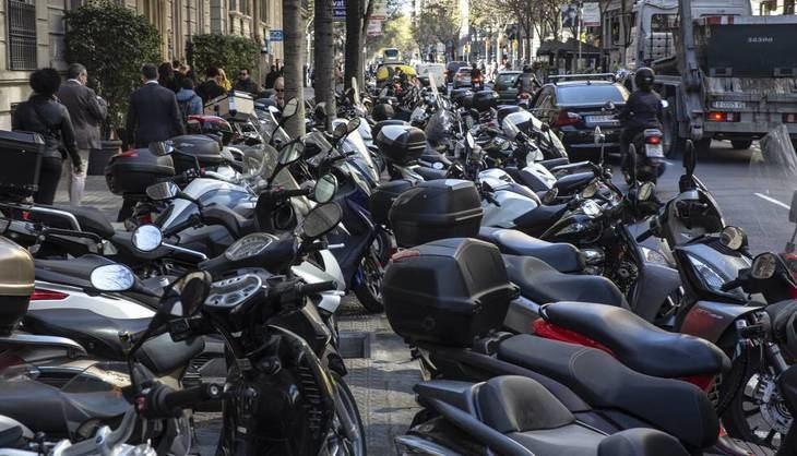 Las matriculaciones de motos cayeron un 44,2%