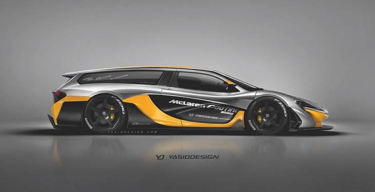 Ferrari FXX K, McLaren P1 GTR, Porsche 918 y Bugattin Chiron posan como Shooting Brakes
