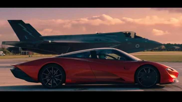 McLaren Speedtail contra avión de combate F-35