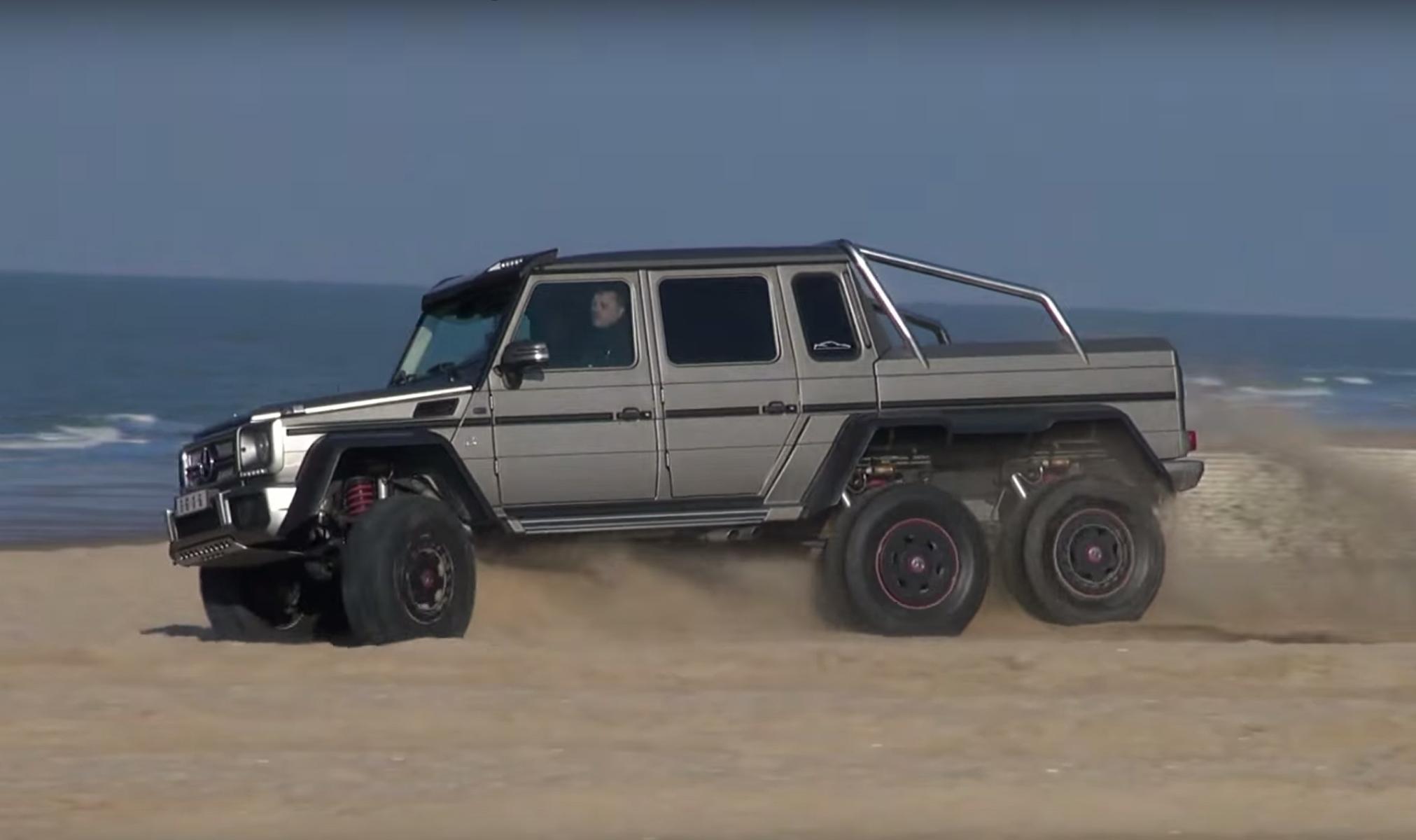 El mercedes benz amg 6x6 por la playa revista de coches for Mercedes benz 6x6 precio