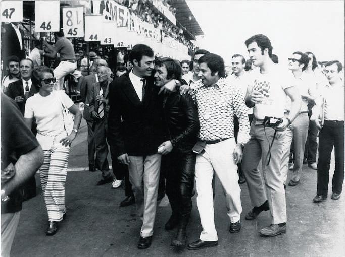 Nieto, con Angel Ortega y Tomás Díaz-Valdés (Montjuic 1970)
