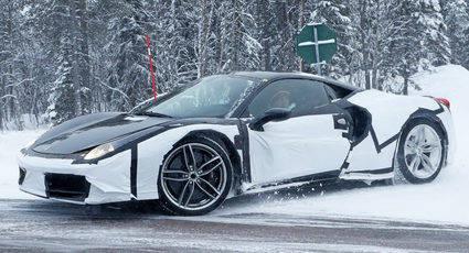 El posible Ferrari Dino se deja ver por Suecia