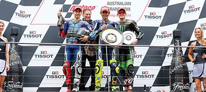Valentino Rossi gana en el GP de Australia