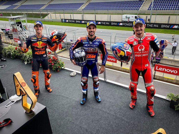 Oliveira, Bezzecchi y Vietti se estrenan en lo más alto del podio