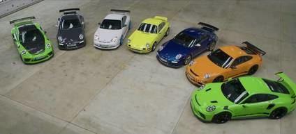 Aquí tienes todas las generaciones del Porsche GT3 corriendo en la Isla de Man