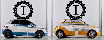 El Fiat 500 de R2-D2 y BB-8
