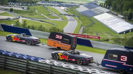 Ricciardo y Verstappen se divierten en el Red Bull Ring