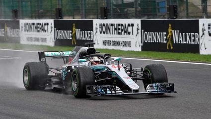 GP de Bélgica: Hamilton hace la pole bajo la lluvia