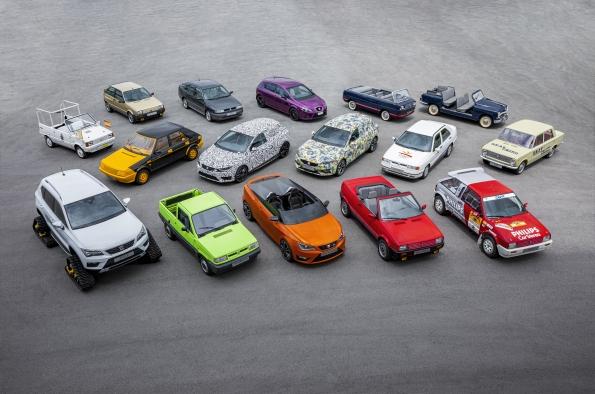 Seat: 70 años y 16 coches especiales