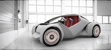Primer vehículo fabricado con una impresora 3D