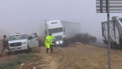 Un camión se estrella en Texas