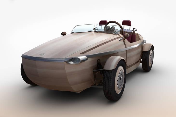 El coche fabricado en ¡madera!