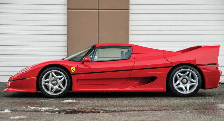 El Ferrari F50 de Mike Tyson a subasta
