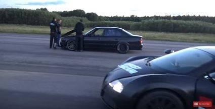 Bugatti Veyron contra BMW M5 e34