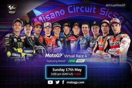 Llega la cuarta carrera virtual de MotoGP