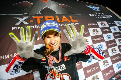 Tony Bou, Campeón del Mundo de Indoor Trial